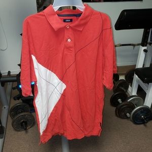 Izod men's size extra large red polo shirt